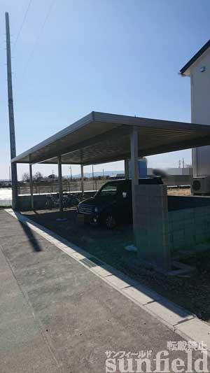 テリオスポートⅢ900 角柱 4台 6本 横連棟